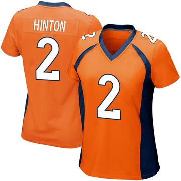 Women's Nike Denver Broncos Kendall Hinton Orange Team Color Jersey - Game