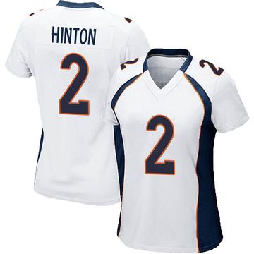 Women's Nike Denver Broncos Kendall Hinton White Jersey - Game