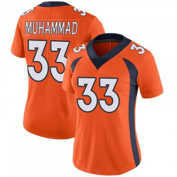 Women's Nike Denver Broncos Khalfani Muhammad Orange 100th Vapor Jersey - Limited