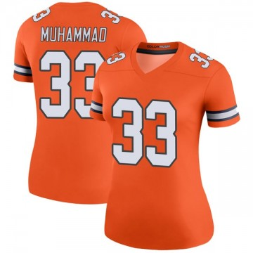 Women's Nike Denver Broncos Khalfani Muhammad Orange Color Rush Jersey - Legend