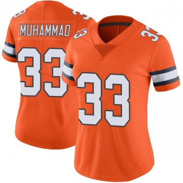 Women's Nike Denver Broncos Khalfani Muhammad Orange Color Rush Vapor Untouchable Jersey - Limited