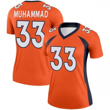Women's Nike Denver Broncos Khalfani Muhammad Orange Jersey - Legend