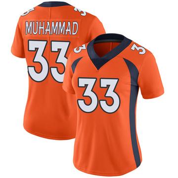 Women's Nike Denver Broncos Khalfani Muhammad Orange Team Color Vapor Untouchable Jersey - Limited