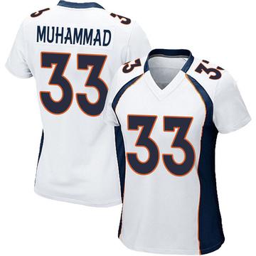 Women's Nike Denver Broncos Khalfani Muhammad White Jersey - Game