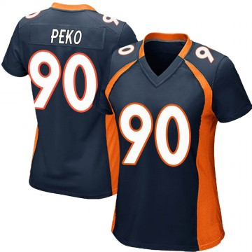 Women's Nike Denver Broncos Kyle Peko Navy Blue Alternate Jersey - Game