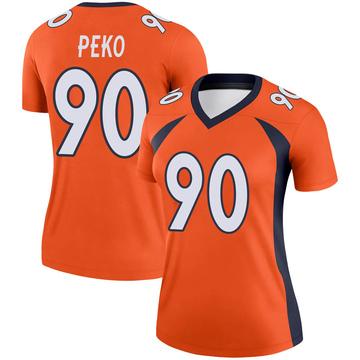 Women's Nike Denver Broncos Kyle Peko Orange Jersey - Legend