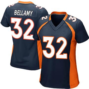 Women's Nike Denver Broncos LeVante Bellamy Navy Blue Alternate Jersey - Game