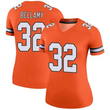 Women's Nike Denver Broncos LeVante Bellamy Orange Color Rush Jersey - Legend