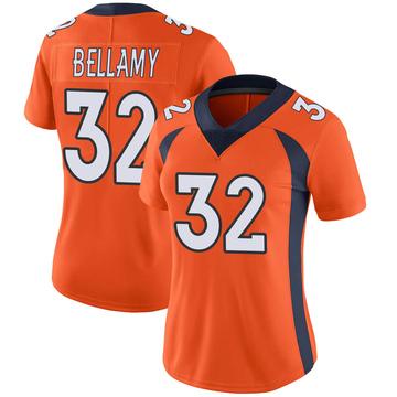 Women's Nike Denver Broncos LeVante Bellamy Orange Team Color Vapor Untouchable Jersey - Limited