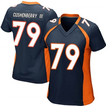 Women's Nike Denver Broncos Lloyd Cushenberry III Navy Blue Alternate Jersey - Game