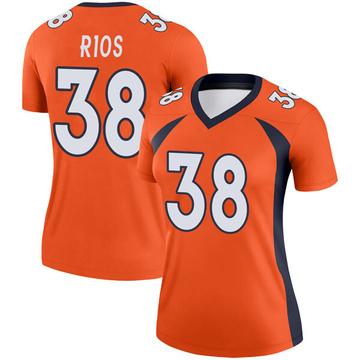 Women's Nike Denver Broncos Marcus Rios Orange Jersey - Legend