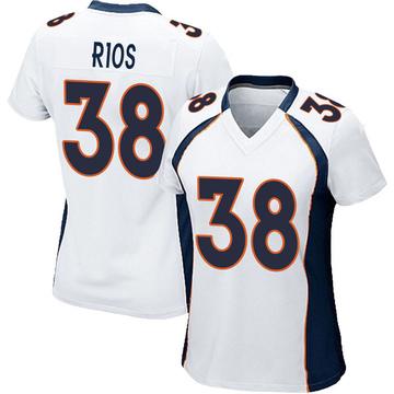Women's Nike Denver Broncos Marcus Rios White Jersey - Game