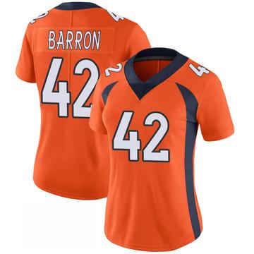 Women's Nike Denver Broncos Mark Barron Orange 100th Vapor Jersey - Limited