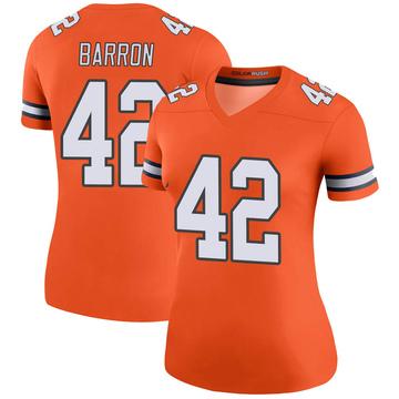 Women's Nike Denver Broncos Mark Barron Orange Color Rush Jersey - Legend