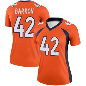 Women's Nike Denver Broncos Mark Barron Orange Jersey - Legend