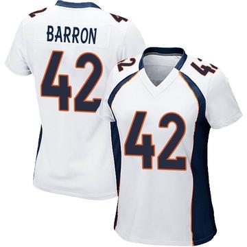 Women's Nike Denver Broncos Mark Barron White Jersey - Game