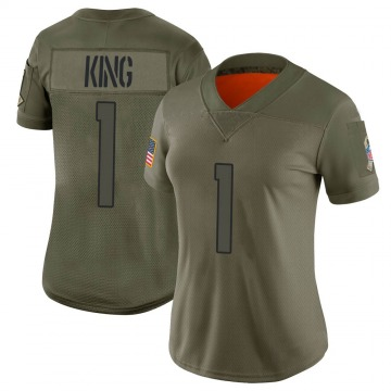 Women's Nike Denver Broncos Marquette King Camo 2019 Salute to Service Jersey - Limited