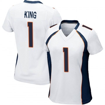 Women's Nike Denver Broncos Marquette King White Jersey - Game