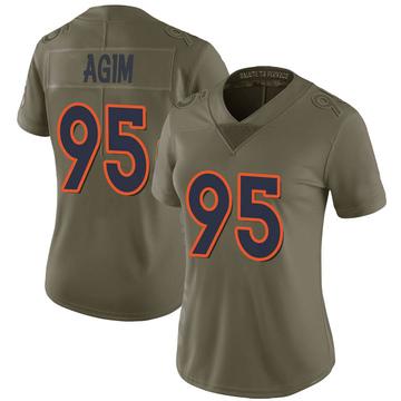 Women's Nike Denver Broncos McTelvin Agim Green 2017 Salute to Service Jersey - Limited
