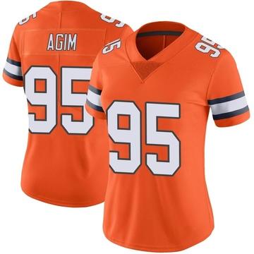Women's Nike Denver Broncos McTelvin Agim Orange Color Rush Vapor Untouchable Jersey - Limited
