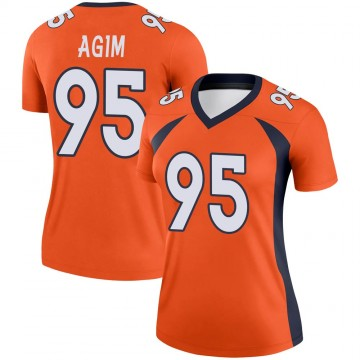 Women's Nike Denver Broncos McTelvin Agim Orange Jersey - Legend