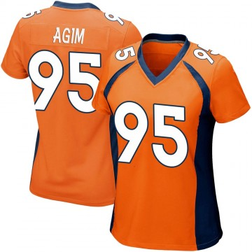 Women's Nike Denver Broncos McTelvin Agim Orange Team Color Jersey - Game