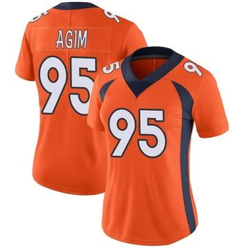 Women's Nike Denver Broncos McTelvin Agim Orange Team Color Vapor Untouchable Jersey - Limited