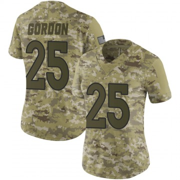Women's Nike Denver Broncos Melvin Gordon Camo 2018 Salute to Service Jersey - Limited