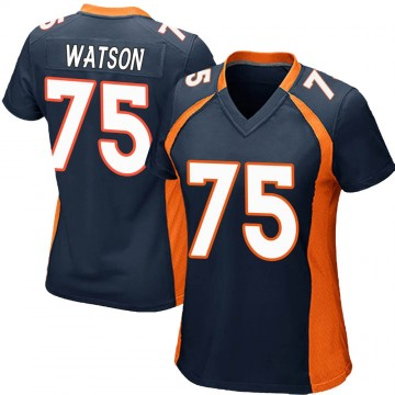 Women's Nike Denver Broncos Menelik Watson Navy Blue Alternate Jersey - Game