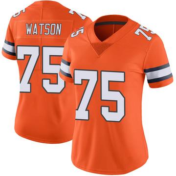 Women's Nike Denver Broncos Menelik Watson Orange Color Rush Vapor Untouchable Jersey - Limited