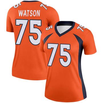 Women's Nike Denver Broncos Menelik Watson Orange Jersey - Legend