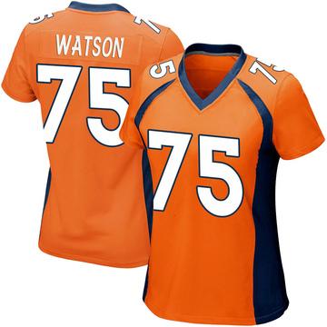 Women's Nike Denver Broncos Menelik Watson Orange Team Color Jersey - Game