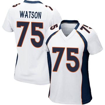 Women's Nike Denver Broncos Menelik Watson White Jersey - Game