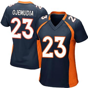 Women's Nike Denver Broncos Michael Ojemudia Navy Blue Alternate Jersey - Game