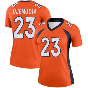 Women's Nike Denver Broncos Michael Ojemudia Orange Jersey - Legend