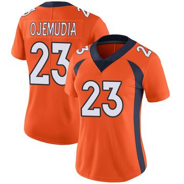 Women's Nike Denver Broncos Michael Ojemudia Orange Team Color Vapor Untouchable Jersey - Limited
