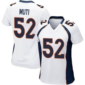 Women's Nike Denver Broncos Netane Muti White Jersey - Game