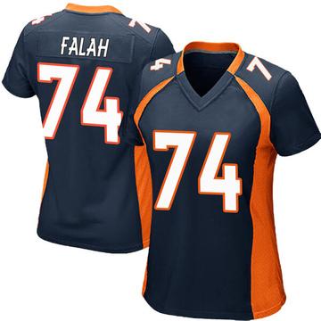 Women's Nike Denver Broncos Nico Falah Navy Blue Alternate Jersey - Game