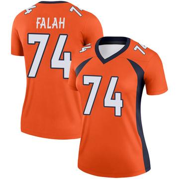 Women's Nike Denver Broncos Nico Falah Orange Jersey - Legend