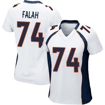 Women's Nike Denver Broncos Nico Falah White Jersey - Game