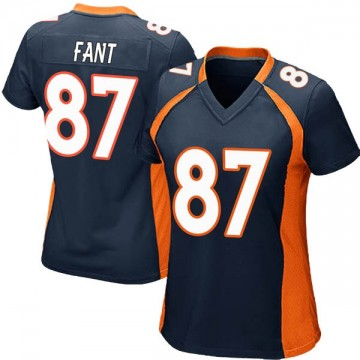 Women's Nike Denver Broncos Noah Fant Navy Blue Alternate Jersey - Game
