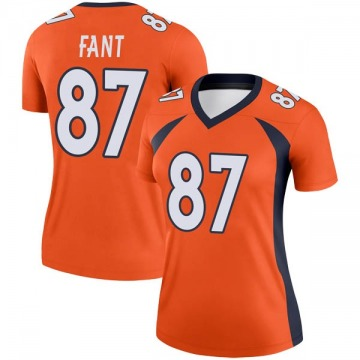 Women's Nike Denver Broncos Noah Fant Orange Jersey - Legend