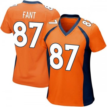 Women's Nike Denver Broncos Noah Fant Orange Team Color Jersey - Game