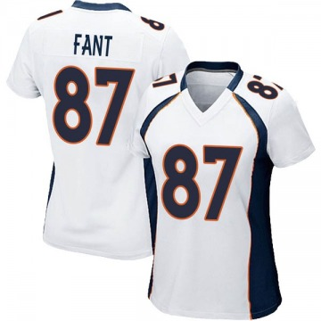 Women's Nike Denver Broncos Noah Fant White Jersey - Game