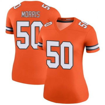 Women's Nike Denver Broncos Patrick Morris Orange Color Rush Jersey - Legend