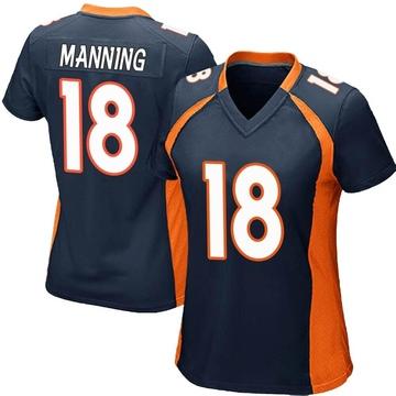 Women's Nike Denver Broncos Peyton Manning Navy Blue Alternate Jersey - Game