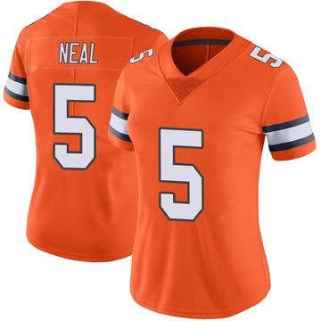 Women's Nike Denver Broncos Riley Neal Orange Color Rush Vapor Untouchable Jersey - Limited