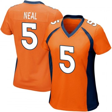 Women's Nike Denver Broncos Riley Neal Orange Team Color Jersey - Game