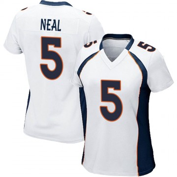 Women's Nike Denver Broncos Riley Neal White Jersey - Game