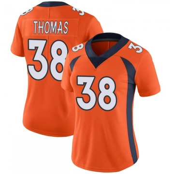 Women's Nike Denver Broncos Shamarko Thomas Orange 100th Vapor Jersey - Limited